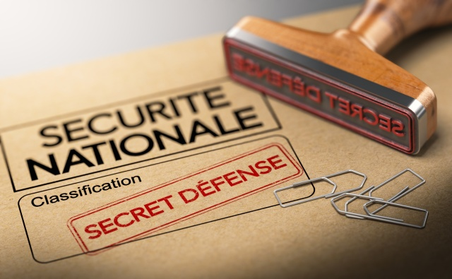 Informations secètes, sureté de l'état. Classification secret défense